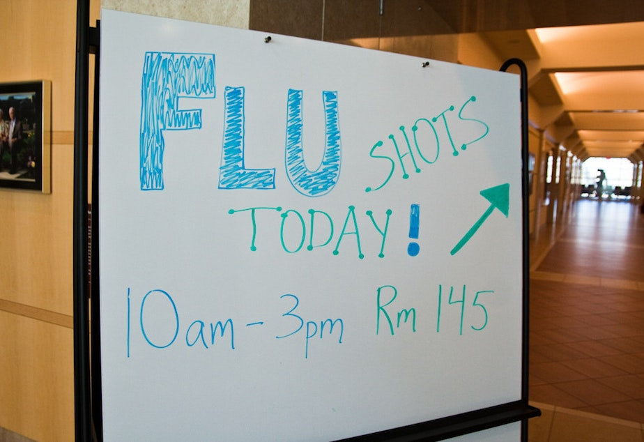 A 2010 photo for a flu shot drive.