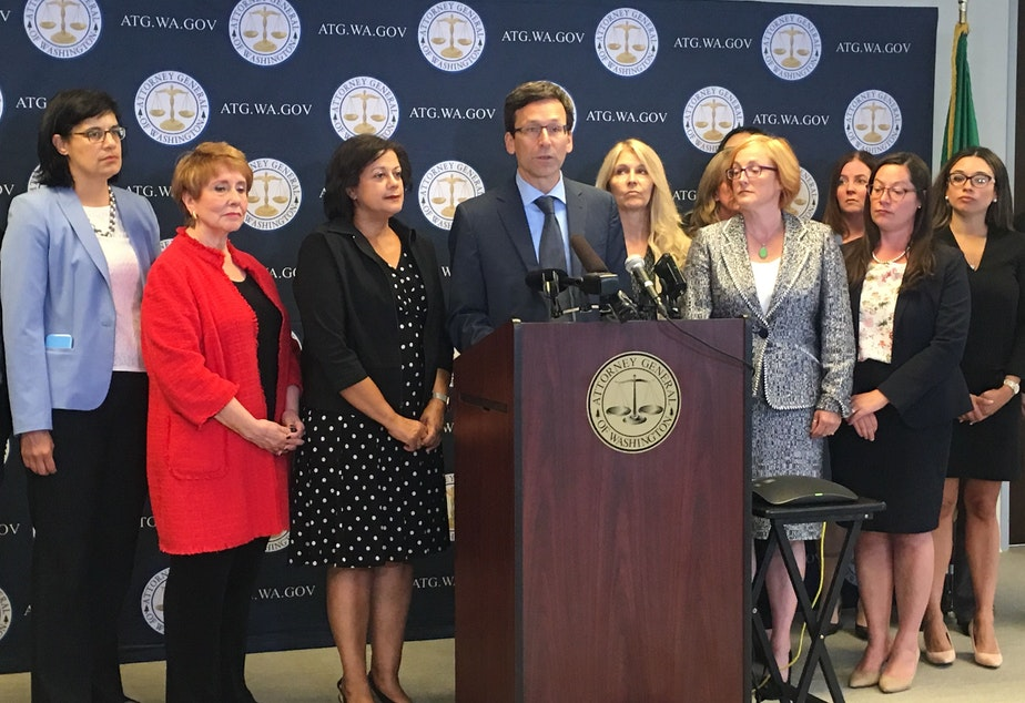 caption: Attorney General Bob Ferguson says Washington will be joining 19 other states in a lawsuit challening the new federal rule on the Flores Agreement. It's Ferguson's 47th suit taking on the Trump Administration since 2017.