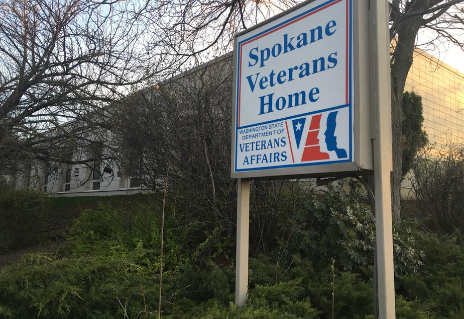 caption: Since July 21, 34 residents and 23 staff at the Spokane Veterans Home have tested positive for COVID-19. Three residents died.