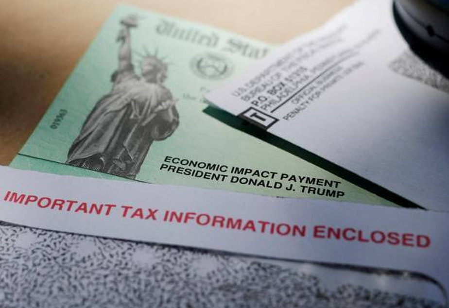 caption: An error at the IRS caused thousands of non-Americans living overseas to mistakenly receive $1,200 stimulus checks last spring.
