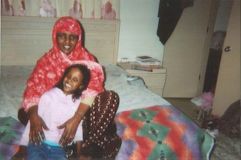 Zuheera Ali as a kid with her mom, Asili Mohamed