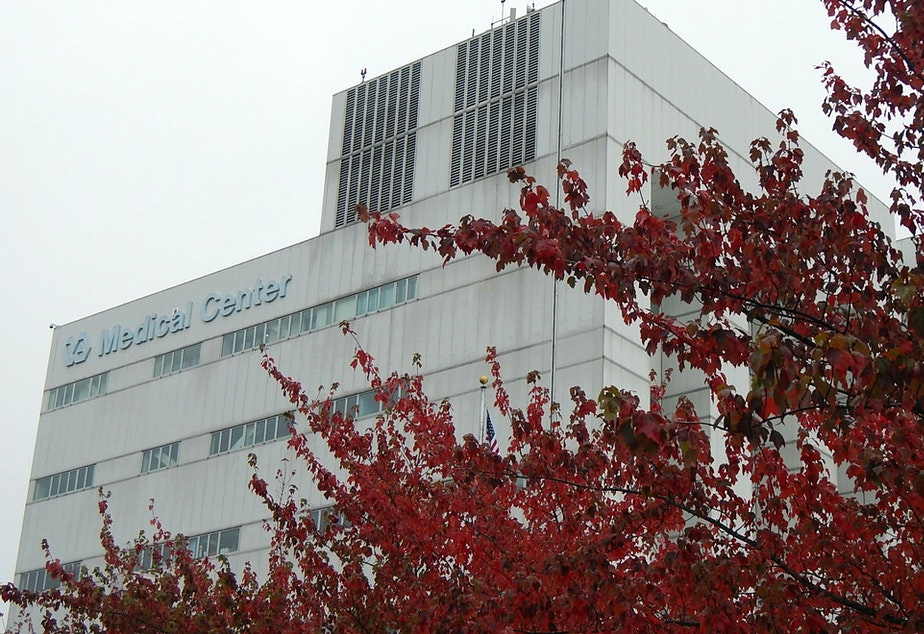 caption: The Veterans Affairs hospital in Seattle