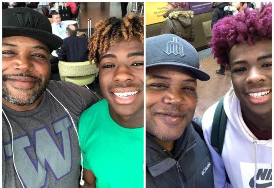 caption: The two Omari Salisburys, father and son.