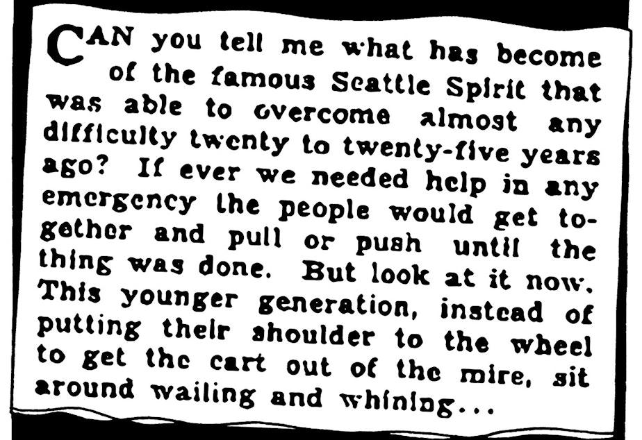walk report 1933: Seattle? More like smells like no spirit!