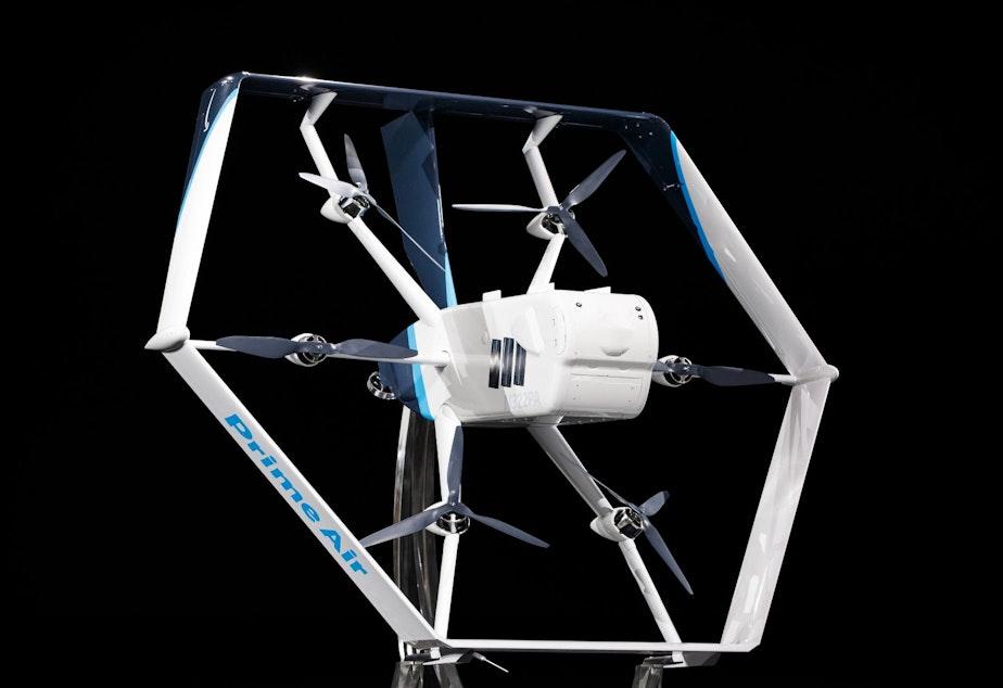 caption: Amazon's MK27 drone