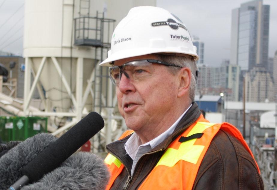 Chris Dixon of Seattle Tunnel Partners speaks about Bertha's status.