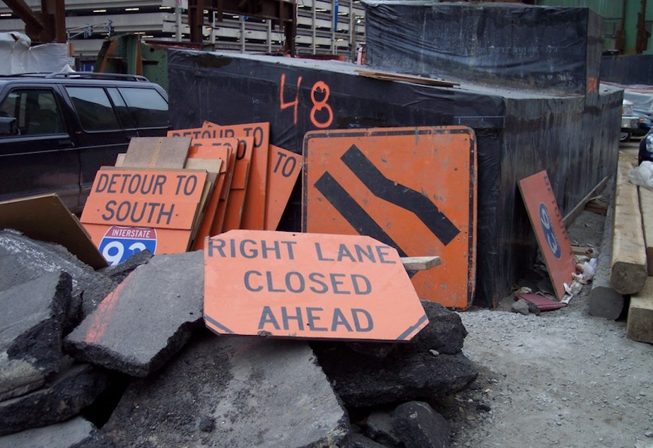 Road signs from Boston's Big Dig.
