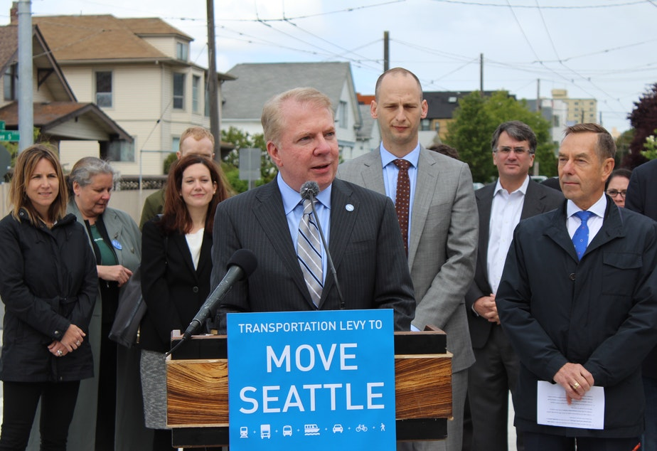 caption: Seattle Mayor Ed Murray announces revisions on a $930 million transportation package he wants to go to voters in November