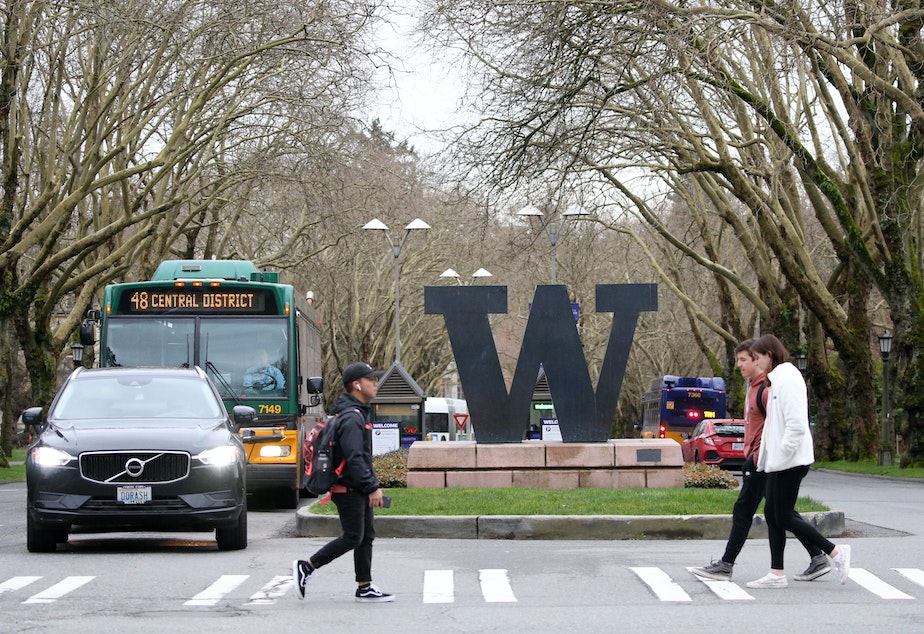 caption: The University of Washington, Seattle is one of several U.S. campuses that have canceled in-person classes in response to the spread of coronavirus.