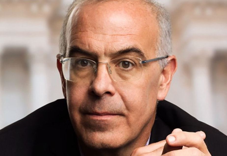 caption: David Brooks most recent book is The Second Mountain The Quest for a Moral Life.