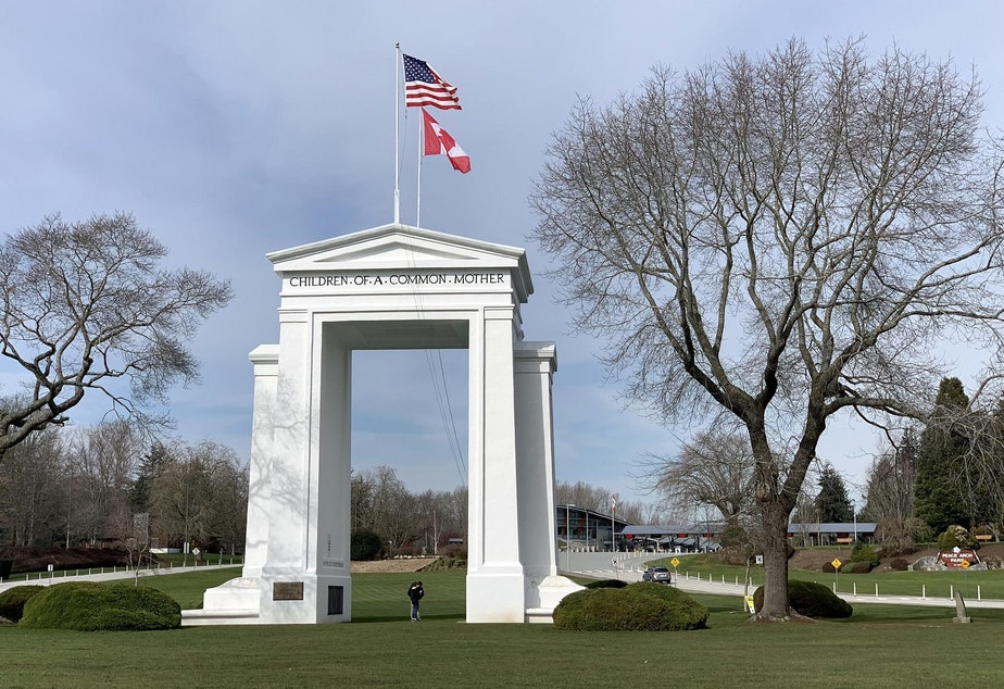 caption: The Peace Arch will celebrate its centennial later this year, but the monument is not why people are flocking to the surrounding park this winter.