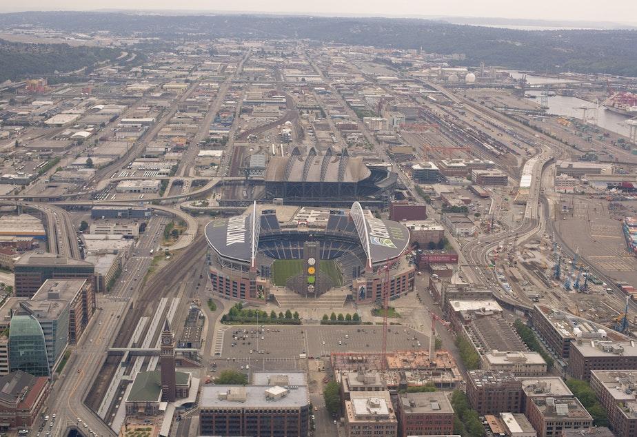 caption: File photo of the Sodo area of Seattle.