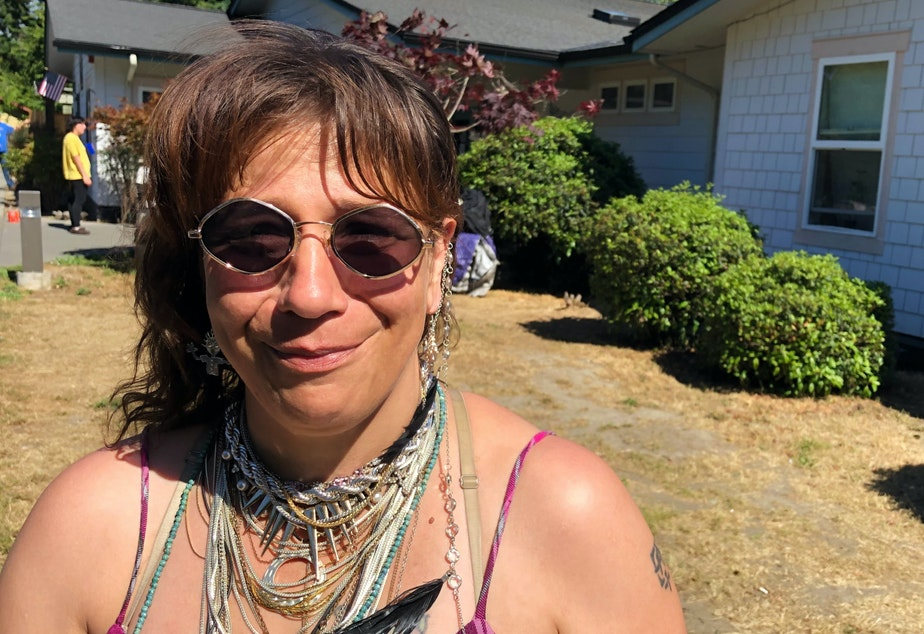 caption: Tabitha Lomker has lived in Port Angeles for the last 11 years.