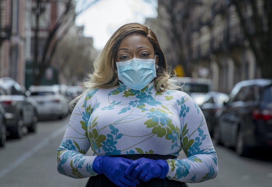 caption: After a period of quarantine at home separated from her children, Tiffany Pinckney recovered from COVID-19. She has become one of the country's first volunteer donors of plasma as part of an experiment to treat COVID-19 patients.