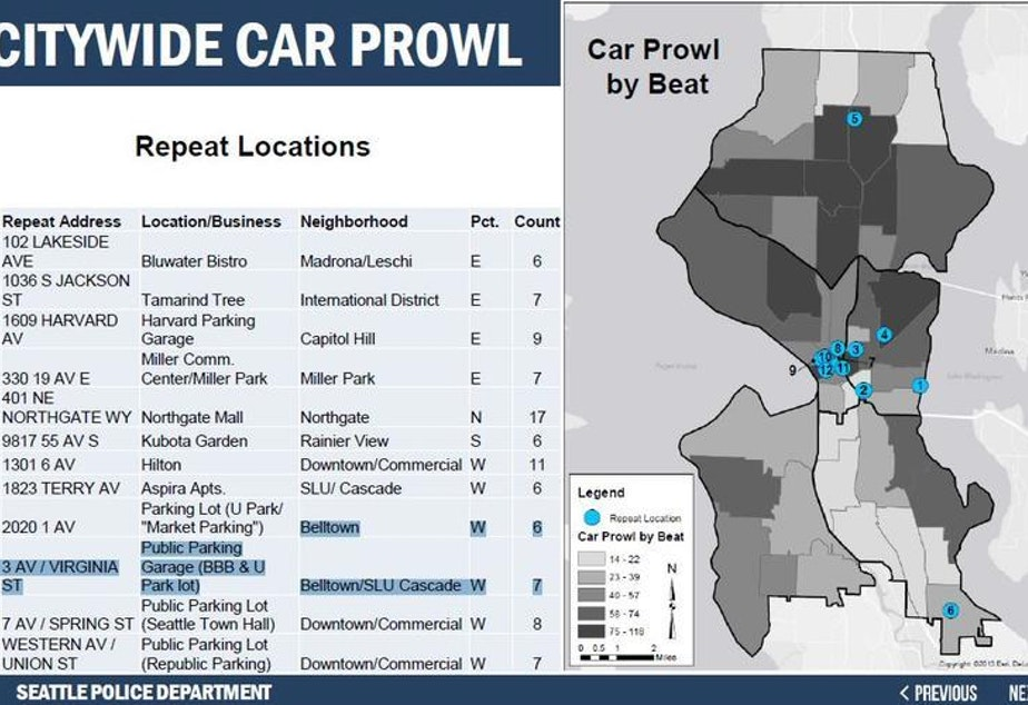 KUOW - Police Report Seattle Car Prowls Up 22 Percent Seattle Police Map on seattle racial diversity map, seattle london map, seattle aviation map, seattle community map, seattle hospitals map, seattle crime map, seattle marijuana map, seattle university map, seattle canada map, seattle incident map, seattle flag map, seattle schools map, seattle murder map, seattle sewer map, seattle annexation map, seattle safety map, seattle traffic map, seattle power outage map, seattle oregon map, north seattle map,