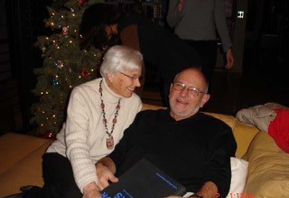 caption: Bob Schaefer, pictured with his wife, Doris.