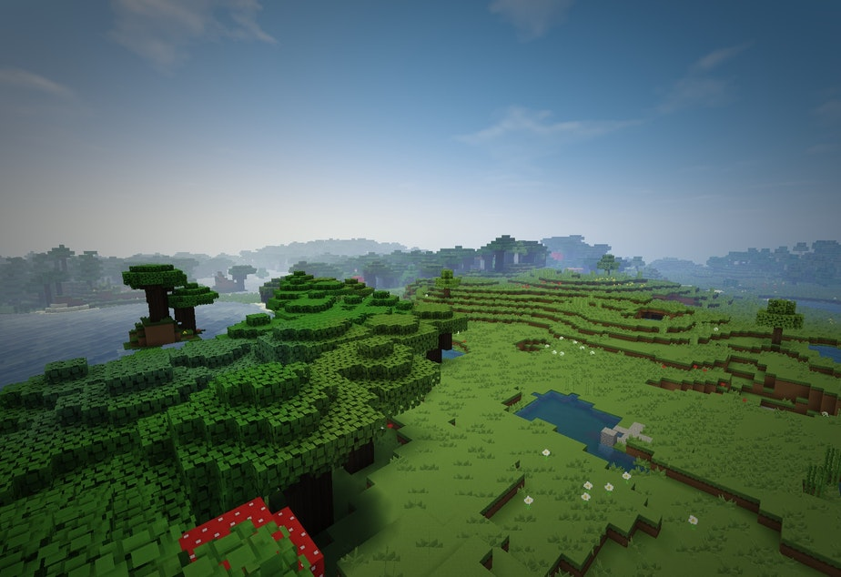 A scene from Minecraft.