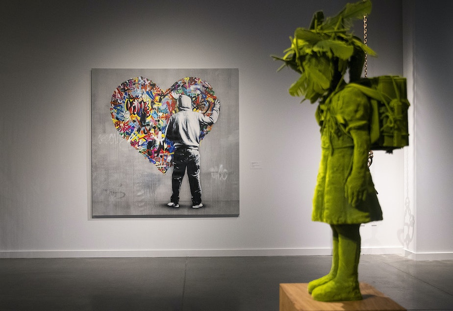 SLIDESHOW: Artworks by Martin Whatson of Norway, center, and Kim Simonsson of Finland, right, are on display inside the Northern Exposure exhibit on Wednesday, May 2, 2018, at the new Nordic Museum in Seattle.
