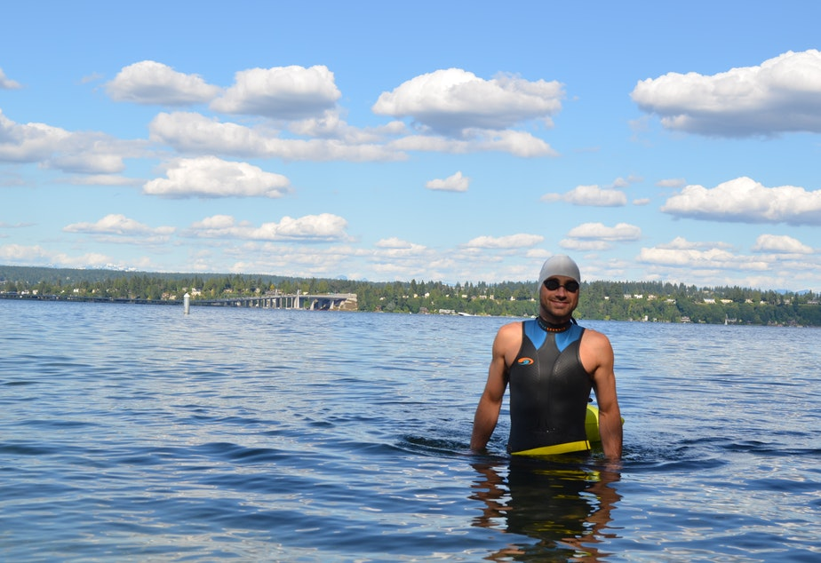 Jackson Ludwig loves to swim in Washington lakes.