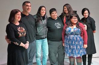 Poets Laura Da', Cedar Sigo, Natalie Diaz, Celeste Adame, Sara Ortiz, Casandra Lopez and Jennifer Foerster at Fred Wildlife Refuge