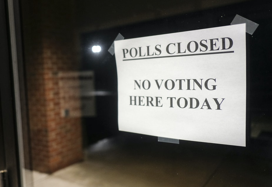 caption: Polling stations throughout Ohio were shut down on March 17 as Gov. Mike DeWine called for the state's primaries to be pushed back to June. That leaves many young voters in the state waiting for their first chance to participate in an election.