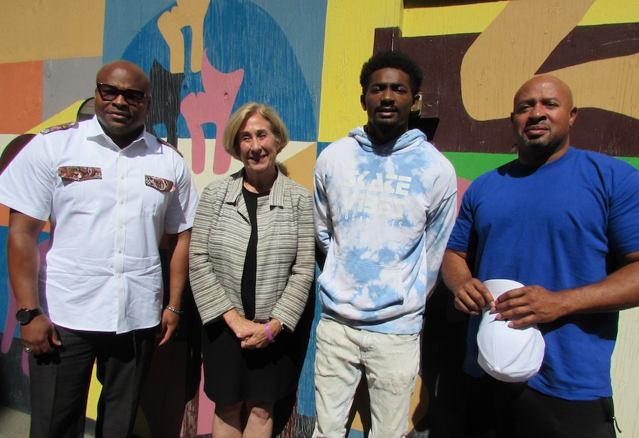 caption: Derrick Wheeler-Smith, Judge Judith Ramseyer, Kaeshon Adams, and Dominique Davis say they want King County to keep working toward zero youth detention.
