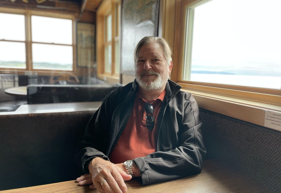 caption: John Rodriguey has owned Toby's Tavern in Coupeville for over 30 years.