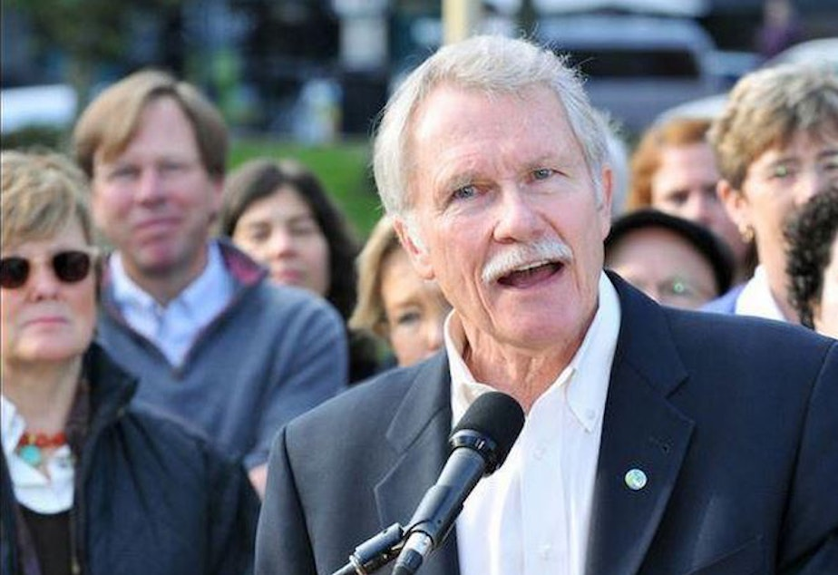 Oregon Gov. John Kitzhaber at his acceptance speech.