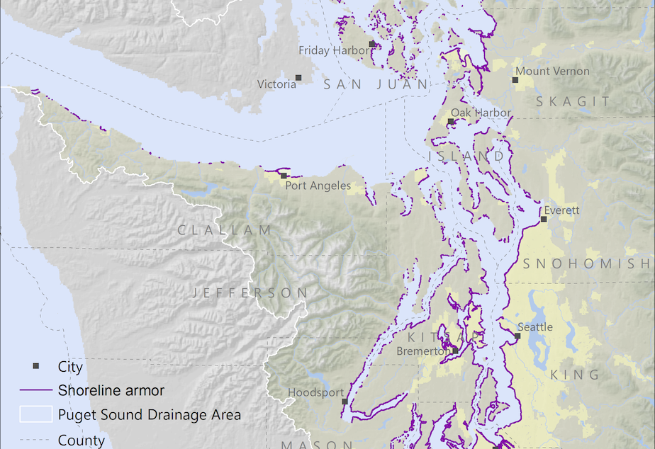 29 percent of Puget Sound's shores have been armored--walled off from the tides.
