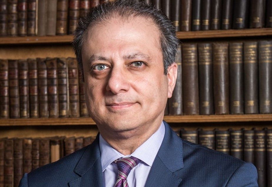 caption: Former federal prosecutor Preet Bharara