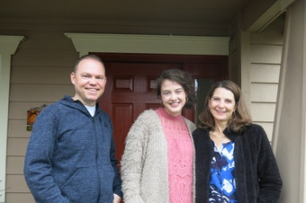 """Kent-area voters Dave Stockton, Savannah Wentworth and Amy Jahn say this campaign season has """"been a zoo."""""""