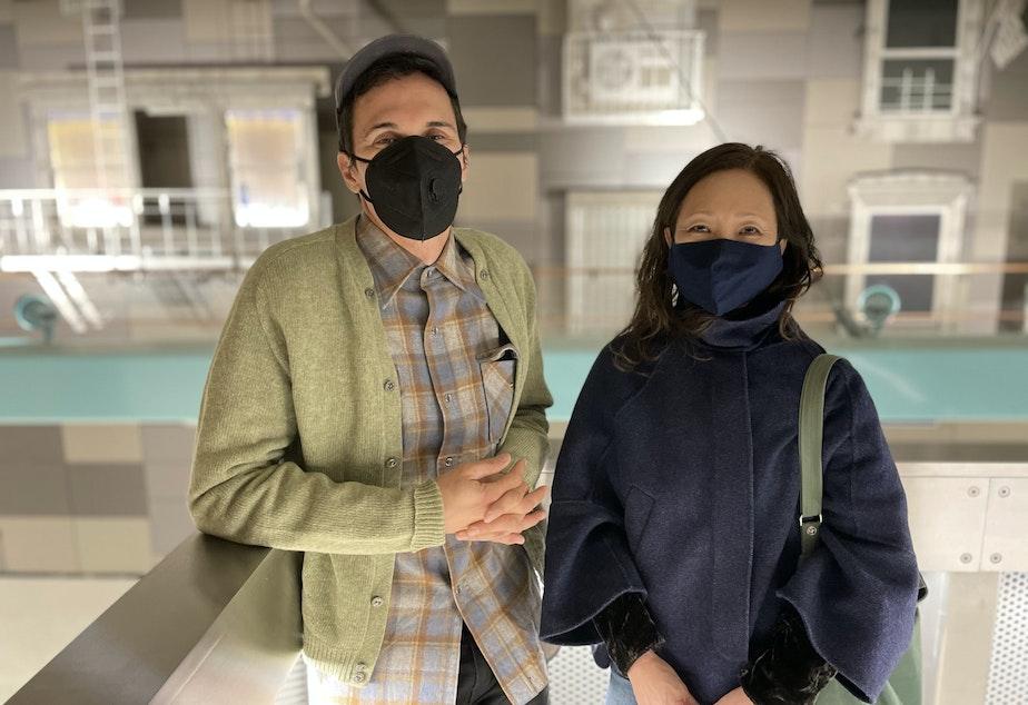 caption: Daniel Mihalyo and Annie Han of Lead Pencil Studio