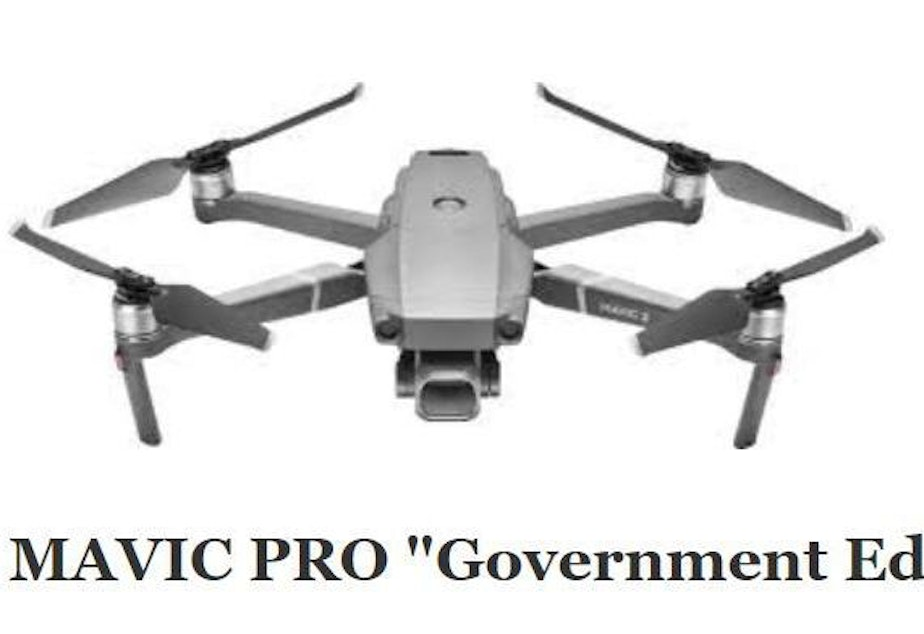 """caption: The Interior Department is grounding its fleet of drones — including Chinese-made models such as this specialized """"government edition"""" Mavic Pro, made by DJI."""