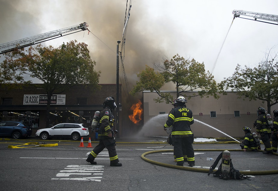 KUOW - Ballard is burning: 5 stores go up in flames ...