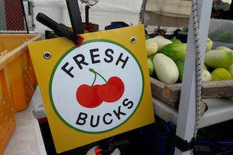 The Fresh Bucks program helps low-income families stretch their food stamp benefits and buy fresh produce at Seattle farmer's markets.