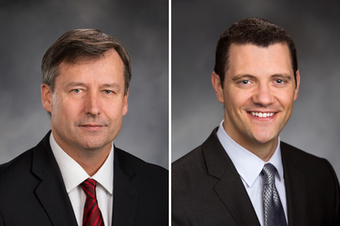 From left: Rep. Matt Manweller (R-Cle Elum) and Sen. Joe Fain (R-Auburn).