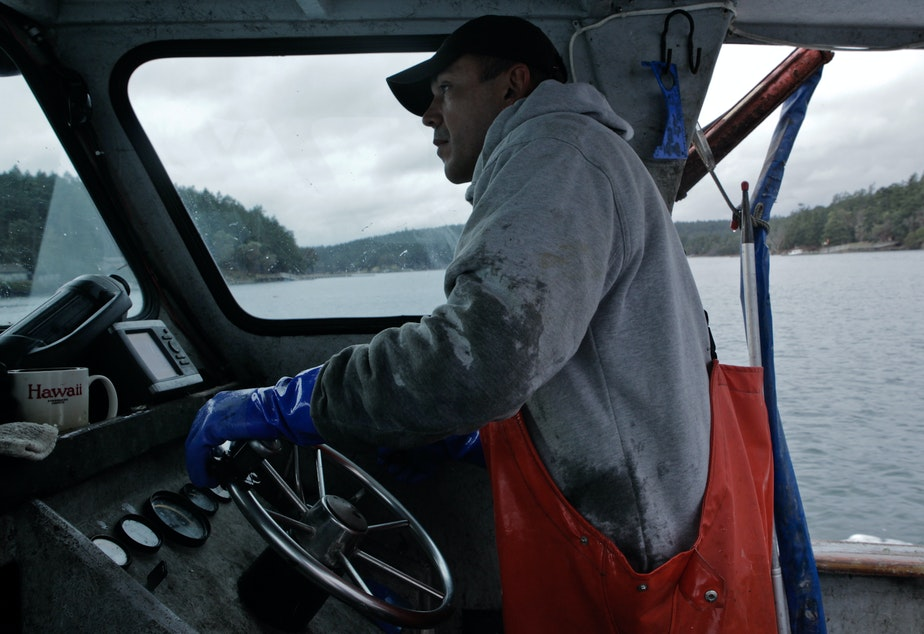 caption: Jay Julius is a member of the Lummi Tribe and an outspoken defender of his people's fishing rights.