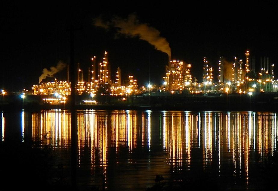 Tesoro refinery in Anacortes, Washington