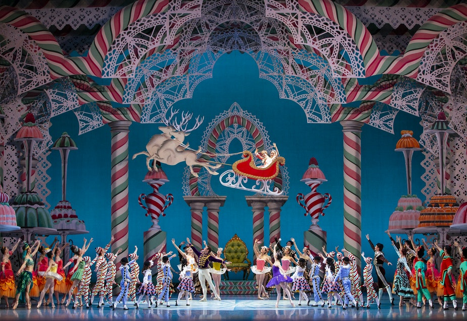 """Pacific Northwest Ballet company members in George Balanchine's """"The Nutcracker"""""""