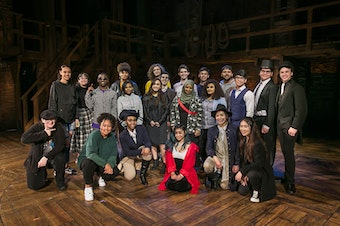 High school students attend 'Hamilton' at the Paramount in Seattle, 2018.