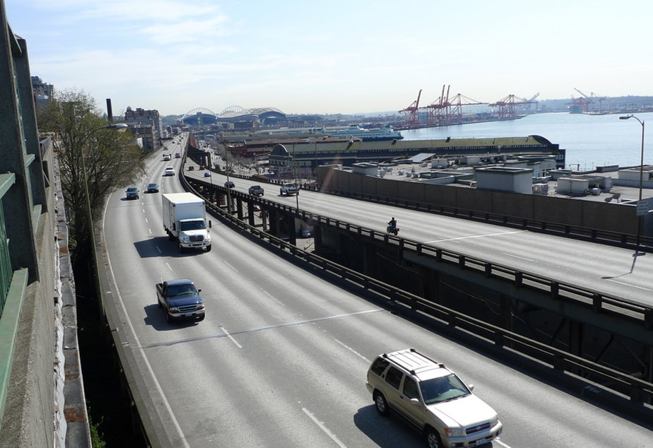 The Alaskan Way Viaduct sank 1.25 inches in November, prompting state officials to consider stopping a water pumping project nearby.