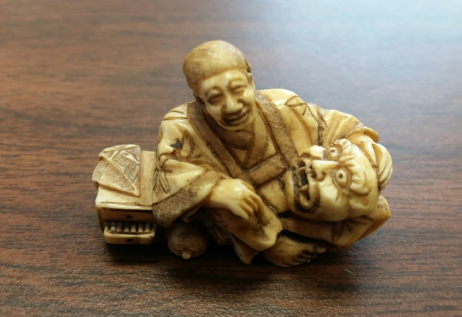 One of the ivory figurines that could land an Everett man behind bars.