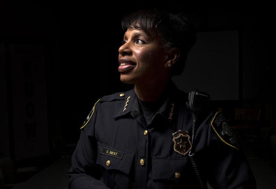 caption: Seattle Police Chief Carmen Best