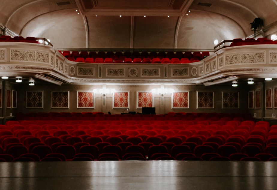 An actor's view of a theater from the stage