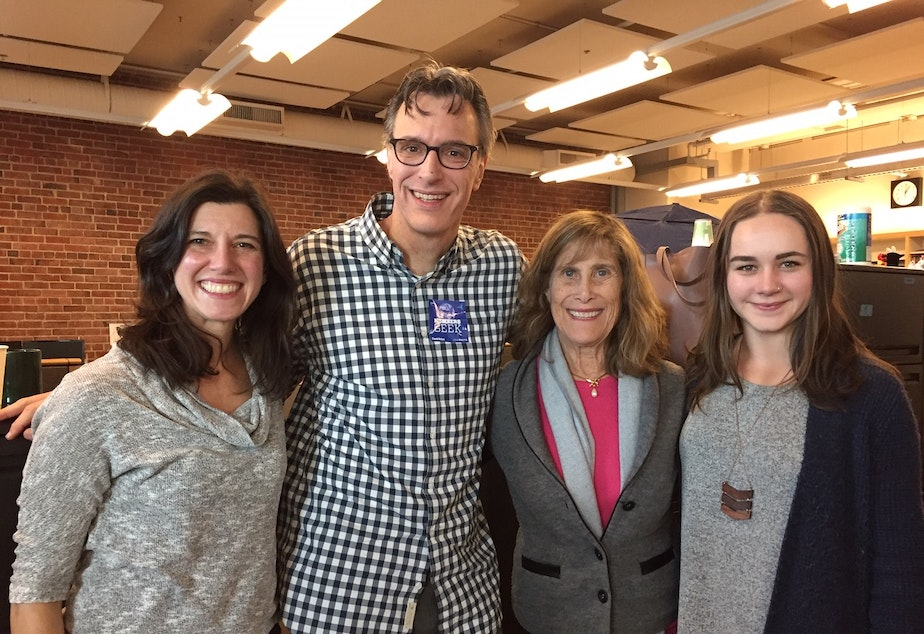 Jessyn Farrell, Bill Radke, Joni Balter and Monica Nickelsburg [L-R]