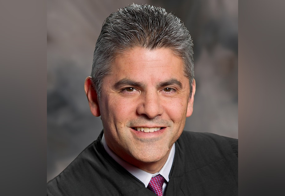 caption: Washington Supreme Court Justice Steven Gonzalez is running for re-election in the state's only judicial race with a challenger.