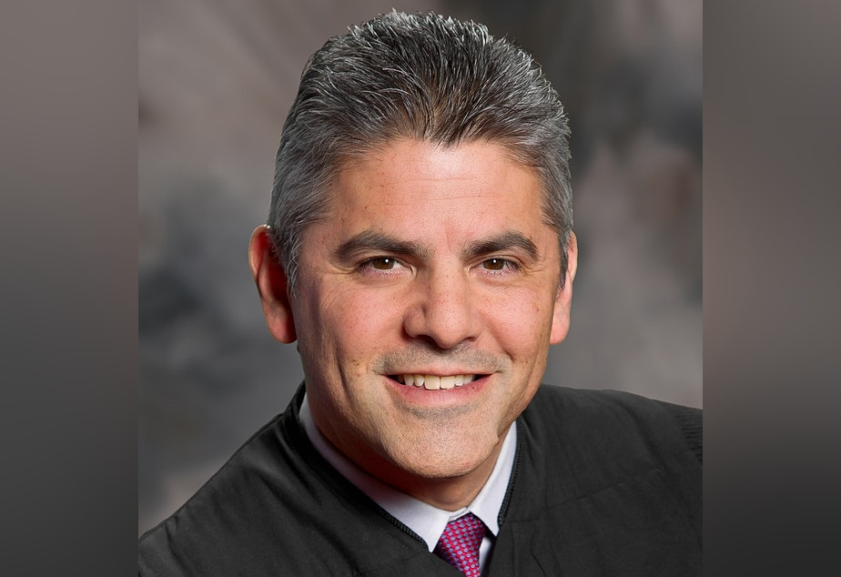 Washington Supreme Court Justice Steven Gonzalez is running for re-election in the state's only judicial race with a challenger.