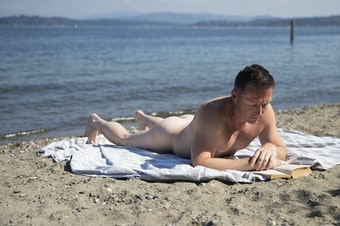 Nudity became legal in Seattle in 1990. Indecent exposure remains illegal, however. This beachgoer allowed us to take his photo but did not want to share his name.