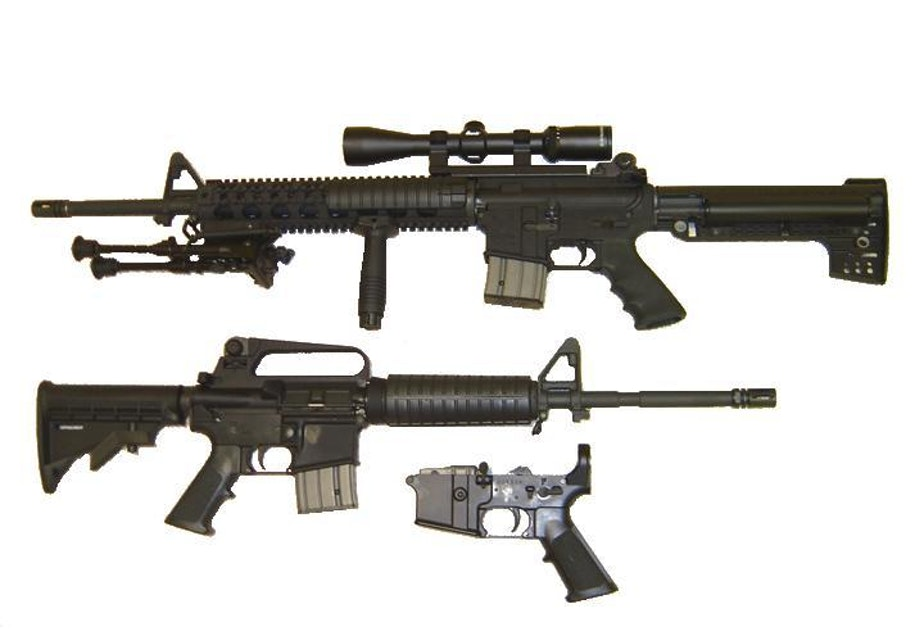 AR-15 rifle with a Stag lower receiver California legal (only with fixed 10-round magazine)