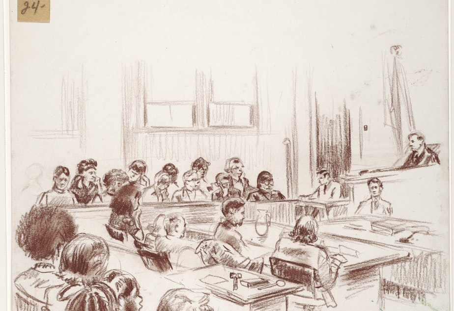 caption: Courtroom illustration.
